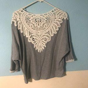 Cream lace sweater